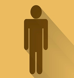 Sign of men flat long shadow vector