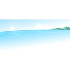 Summer blue sea landscape vector