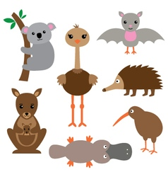 Australian animals set vector