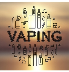 Vape icons set vector