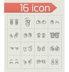Cartoon eyes icon set vector image