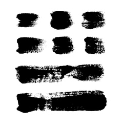 Black grungy abstract hand-painted vector