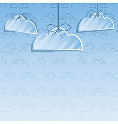 Cloud decoration vector