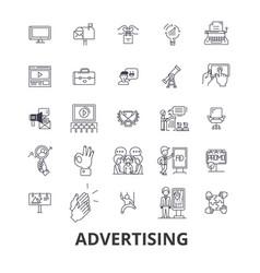 advertising marketing media social billboard vector image vector image