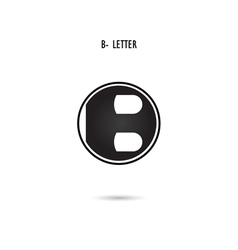 B-letter abstract logo vector image vector image