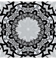 Black stylized frame over symmetry gray wallpaper vector