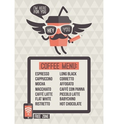 Cafe menu Seamless background and design elements vector image vector image