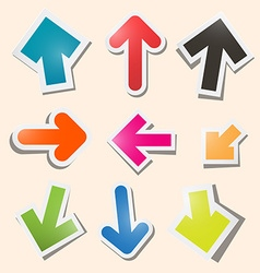 Colorful Paper Arrows Set vector image