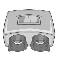Eye checking machine icon gray monochrome style vector
