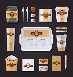 Fastfood Restaurant Corporate Design vector image