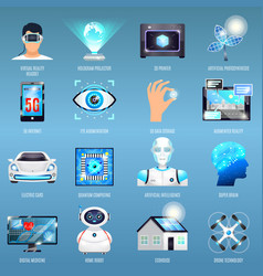 Future technologies icons vector