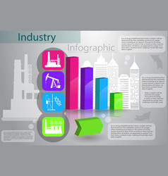 industry infographics production process vector image vector image