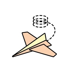 Paper plane creative idea icon line dotted vector