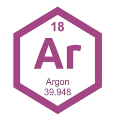 Periodic table argon resize vector image vector image