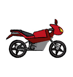 red motorcycle transport sport vector image