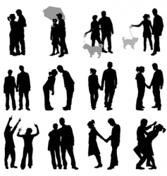 romantic couples set vector image vector image