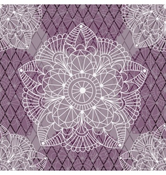Seamless pattern with white and purple figures vector