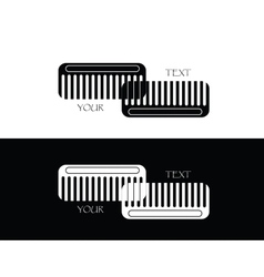 set of comb vector image