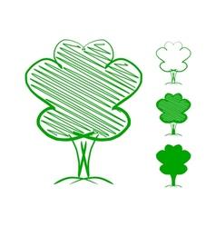 Tree Hand drawn sketch vector image