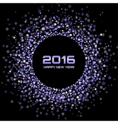 Violet bright new year 2016 background vector