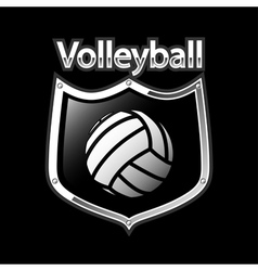 Volleyball emblem - sport vector image vector image