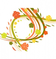wavy autumn vector image