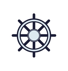 Rudder sea lifestyle nautical marine icon vector