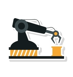 Robot arm of under construction concept vector