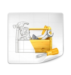 Tool box drawing vector
