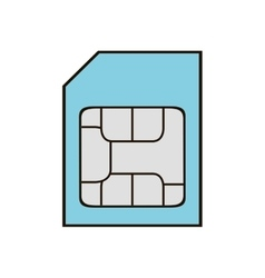 Memory stick card isolated icon vector