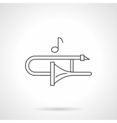 Play on trombone flat line icon vector