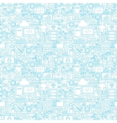 Line Programming White Seamless Pattern vector image