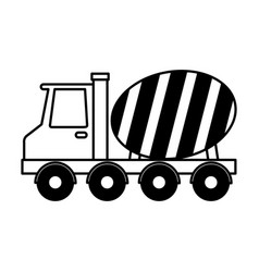 concrete mixer truck vehicle vector image