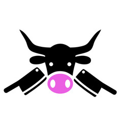 Butchery icon vector