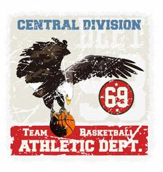 basket eagle vector image