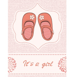 Baby shower withshoes vector