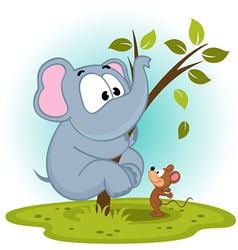 Elephant and mouse vector