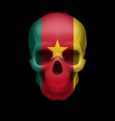 Cameroonian flag skull vector image