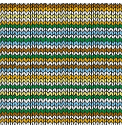 Seamless pattern with colorful hand drawn knitted vector