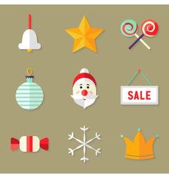 9 christmas icons set 1 vector