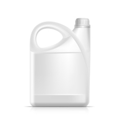 Blank plastic jerrycan canister gallon oil vector