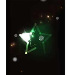 Glowing star in dark space vector