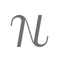 Letter n logo concept icon vector
