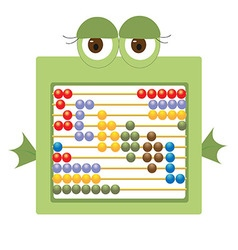 Childrens abacus depicting a frog vector