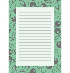 Note page green vector