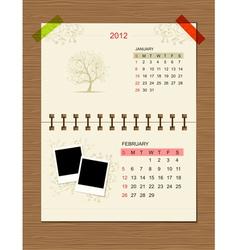calendar2012 february vector image