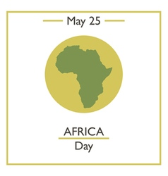 Africa Day vector image vector image