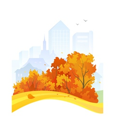 Autumn city design vector image vector image