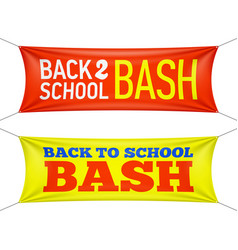 Back to school bash banners vector