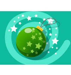 Ball icon christmas vector